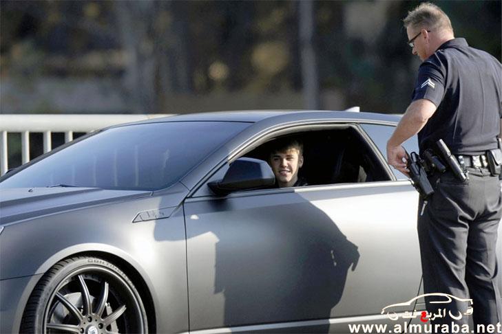 جاستن بيبر وسيارته الجديدة كاديلاك سي تي اس في معدلة بالصور والفيديو Justin Bieber