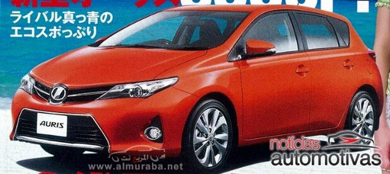 تويوتا اوريس 2013 الجديدة صور مسربه من الكتالوج الرسمي للسيارة Toyota Auris 2013