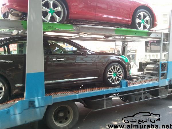 وصول لكزس ال اس 2013 الى كوريا الجنوبية في اول صور لها في شكل شبه تجسسي Lexus LS  2013