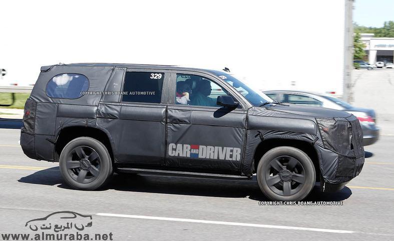 شفرولية تاهو 2014 صور تجسسية جمس يوكن 2014 بشكله الجديد Chevrolet Tahoe GMC Yukon