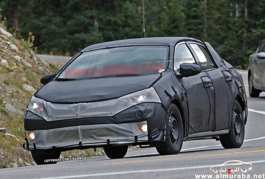 كورولا 2014 تويوتا في اول صور تجسسية لها بالشكل الجديد حصرياً Toyota Corolla 2014