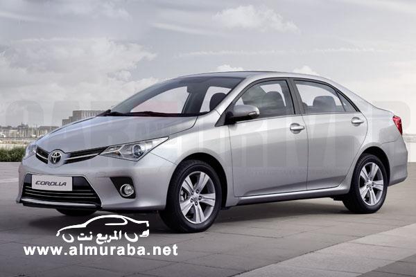 كورولا 2014 تويوتا بالشكل الجديد كلياً في اول صور حصرية لها بشكلها Toyota Corolla 2014