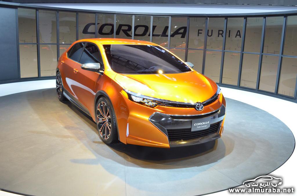تويوتا فوريا كورولا 2014 بالشكل الجديد للجيل القادم صور حصرية من المعرض Toyota Corolla Furia