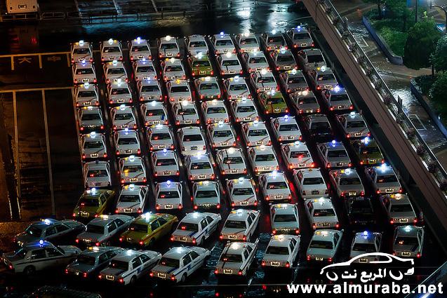 """شاهد كيف يعمل """"تاكسي"""" اليابان داخل المدن والعدل بين العاملين فيه بالصور Japanese taxis"""