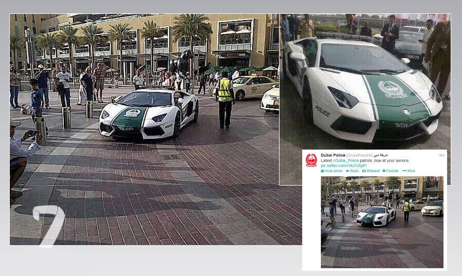 """""""بالصور"""" شرطة دبي تستخدم لامبورجيني افنتادور ضمن اسطولها لضبط أمن الطرق"""