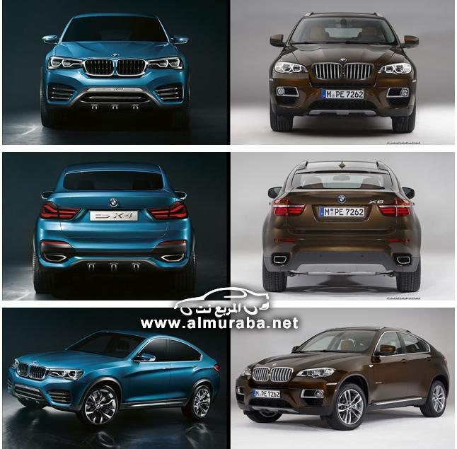 مقارنة بين سيارتي بي ام دبليو اكس فور X4 الجديدة واكس سكس BMW X4 And X6