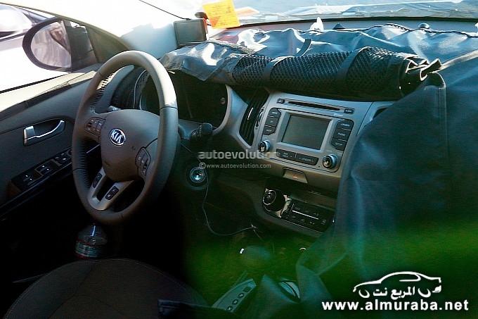كيا سبورتاج 2014 المعاد تصميمها تحصل على تعديل جديد في المكونات الداخلية Kia Sportage