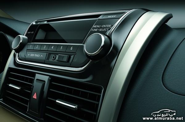 2014 Toyota Yaris Sedan Interior 2 600x396 اسعار ومواصفات السياره تويوتا يارس سيدان 2014 Toyota Yaris Sedan فى مصر والسعودية والإمارات والكويت