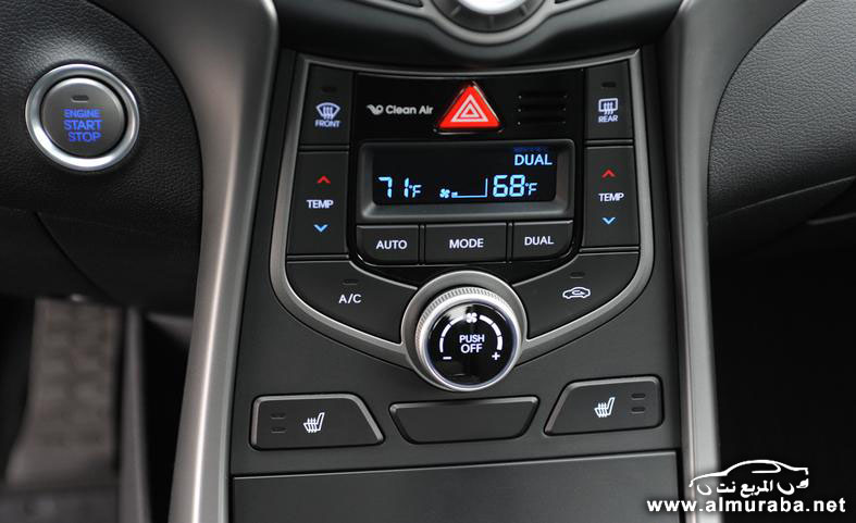 2014 hyundai elantra limited engine start stop button and climate controls photo 554071 s 787x481 مواصفات هيونداي النترا 2014 كوبيه و سيدان و GT    Hyundai Elantra