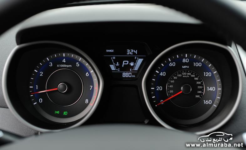 2014 hyundai elantra limited instrument cluster photo 554075 s 787x481 مواصفات هيونداي النترا 2014 كوبيه و سيدان و GT    Hyundai Elantra