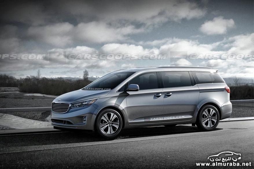 2015 Kia Carnival4 كيا 2014 ميني فان سيدونا كرنفال بشكلها الجديدة كلياً بالتحديثات والتطويرات Kia Sedona Minivan