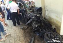 """بالصور"" حادث شنيع جداً لسيارة بي إم دبليو 530I E60 في روسيا يحطمها بالكامل"