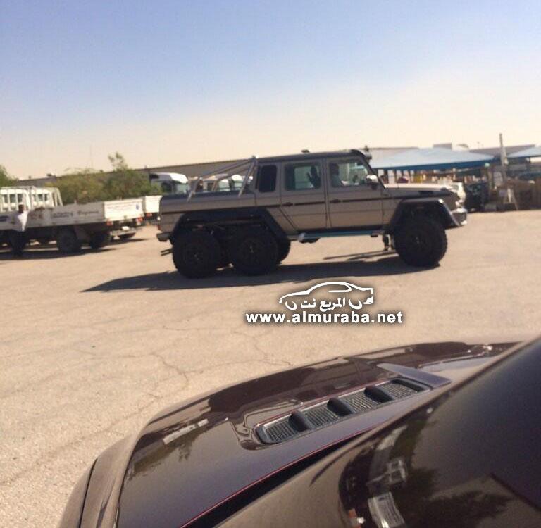 التقاط اول صور مرسيدس الدفع السداسي 6×6 جي في السعودية Mercedes-Benz G-class   المربع نت