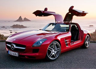 مرسيدس قد ترسل اس ال اس ايه ام جي لمعرض لوس انجلوس للسيارات Mercedes SLS AMG