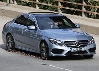 مرسيدس سي كلاس 2015 الجديدة كلياً تظهر للمرة الأولى بدون تمويه Mercedes-Benz C-Class