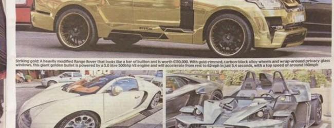 """""""بالصور"""" صحيفة الديلي ميل البريطانية تصف الاثرياء العرب في لندن وسيارتهم بـ""""السفهاء"""""""