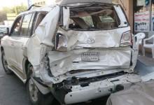 """""""بالفيديو"""" حادث تويوتا لاندكروز في مدينة الرياض يوضح رداءة التصنيع التايلندي"""