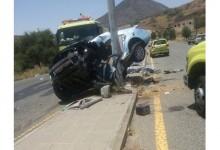 """""""بالصور"""" حادث كامري شنيع جداً في الطائف بسبب السرعة يتسبب في مصرع السائق"""