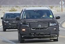 """""""صور تجسسية"""" هوندا بايلوت 2016 الجديدة اثناء إختبارها في الصحراء Honda Pilot"""