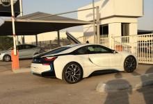 """""""بالفيديو"""" وصول بي ام دبليو i8 الجديدة الى مدينة الرياض BMW i8 2015"""