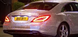 """""""بالصور"""" سيارة من الكرستال تلفت الانظار شوارع مدينة لندن البريطانية"""