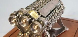 """""""فيديو"""" شاهد أصغر محرك في العالم بـ18 اسطوانة والذي يعتبر أكبر محرك في القوة حتى الان"""