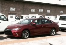 """""""حصرياً"""" شاهد وصول تويوتا كامري 2015 بشكلها الجديد كلياً في ميناء جدة Toyota Camry"""