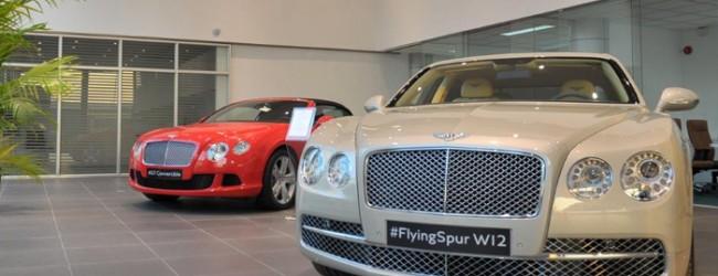 شركة بنتلي تفتتح صالة لسياراتها