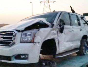 """""""بالصور"""" أول حادث انقلاب جمس يوكن 2015 في السعودية GMC Yukon"""