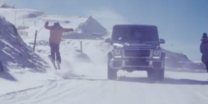 """""""فيديو"""" مرسيدس G63 تظهر وهي تتزلج على الثلج مع فئات مرسيدس أخرى Mercedes-AMG"""