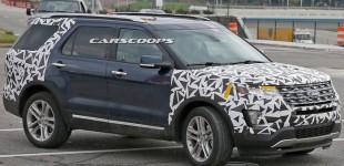 """""""بالصور"""" فورد اكسبلورر 2016 تظهر بالتصميم النهائي مع محركات تيربو جديدة Ford Explorer"""