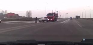 """""""فيديو"""" شاهد الرجل الأكثر حظاً في العالم ينجو من حادث مروع!"""