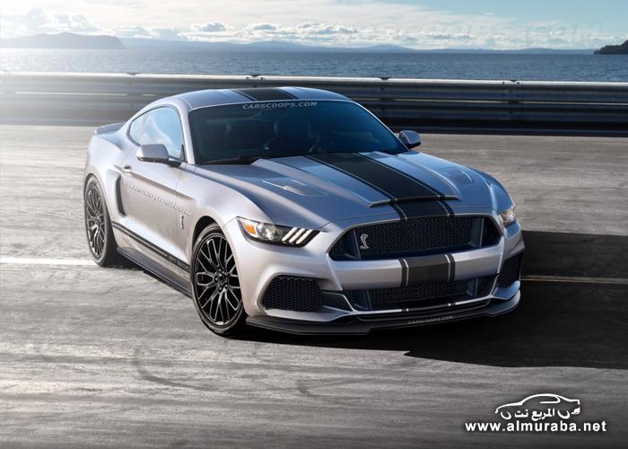 فورد موستنج 2015 شلبي GT500 في أول صورة توقعية Ford Shelby Mustang GT500   المربع نت