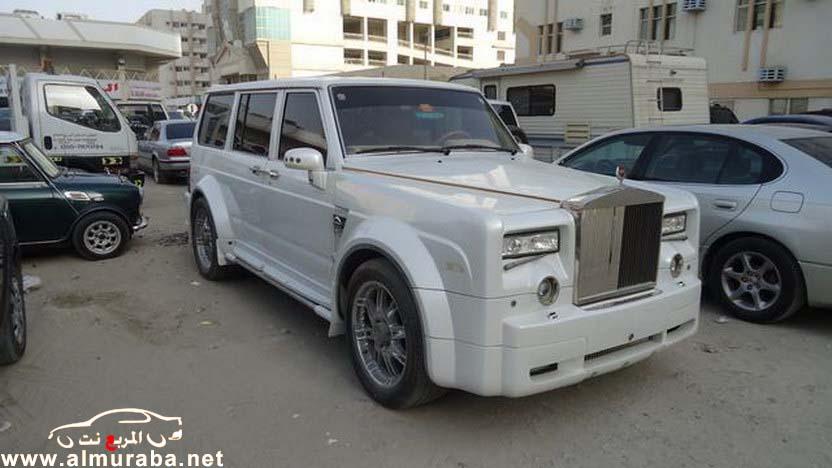 اماراتي يقوم بتعديل باترول نيسان قديم الى سيارة رولز رويس