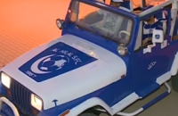 """""""فيديو"""" مشجع يعدل سيارته بالكامل حباً في نادي الهلال ويخصصها للسفر وحضور المباريات"""