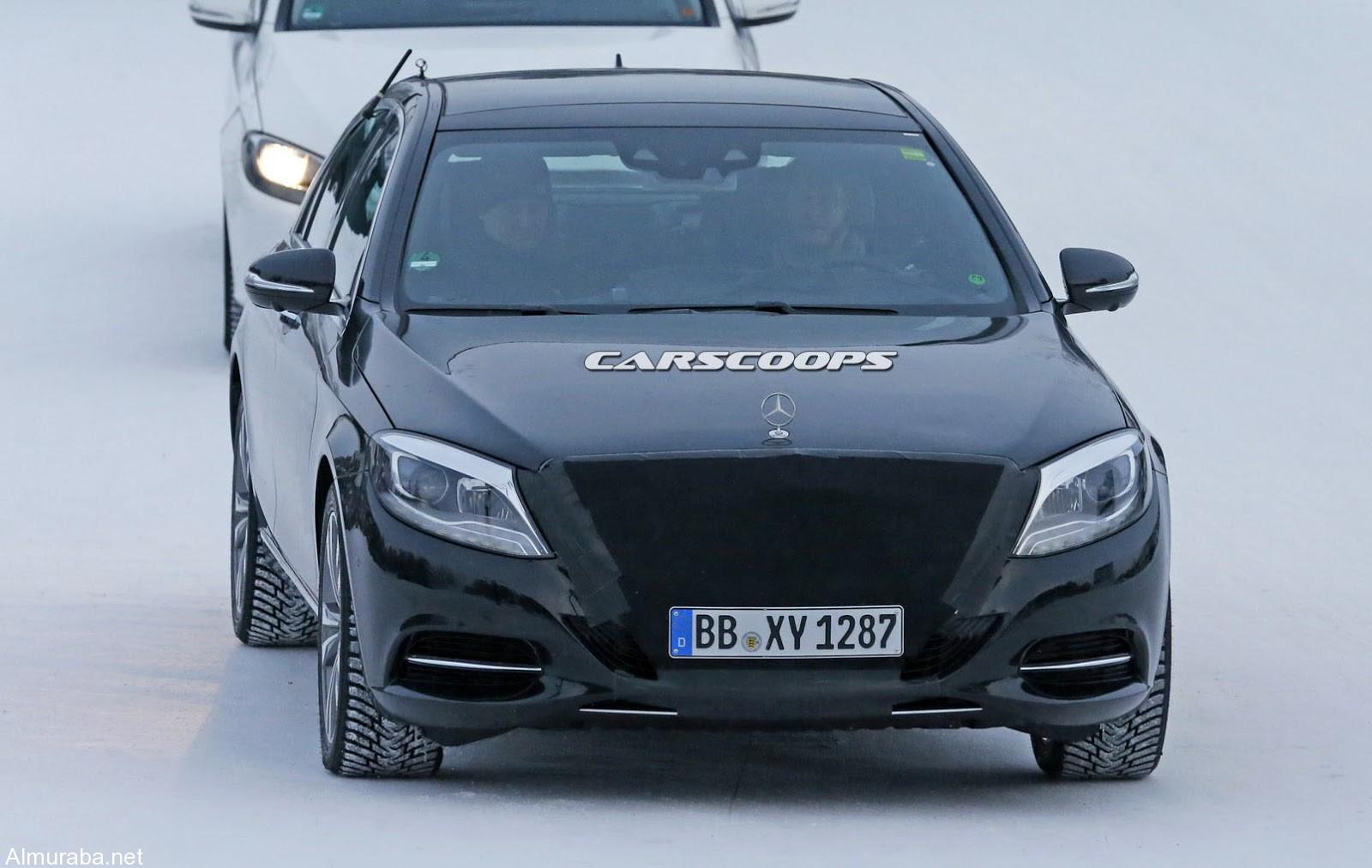 """""""بالصور"""" مرسيدس اس كلاس 2017 بالتحديثات والتقنيات الجديدة تظهر خلال اختبارها من جديد Mercedes S-Class - المربع نت"""