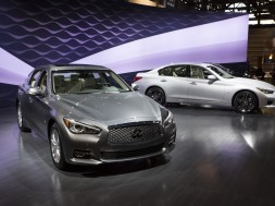 CHICAGO (Feb. 11, 2016) – Infiniti today revealed the full lineup of new advanced engines for its Infiniti Q50 sports sedan at the 2016 Chicago Auto Show, including 300-horsepower and 400-horsepower versions of the advanced 3.0-liter V6 twin turbo engines and a 2.0-liter 4-cylinder turbo engine.