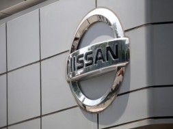 The logo of Nissan is seen at its dealership in Seoul