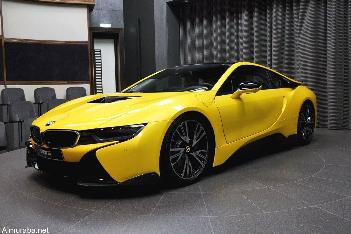 """""""بالصور"""" وكيل """"بي إم دبليو"""" بأبو ظبي يكشف النقاب عن التخصيصية BMW i8   المربع نت"""