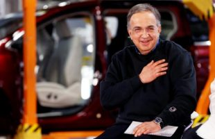 FCA CEO Sergio Marchionne attends the celebration of the production launch of the all-new 2017 Chrysler Pacifica minivan at the FCA Windsor Assembly plant in Windsor