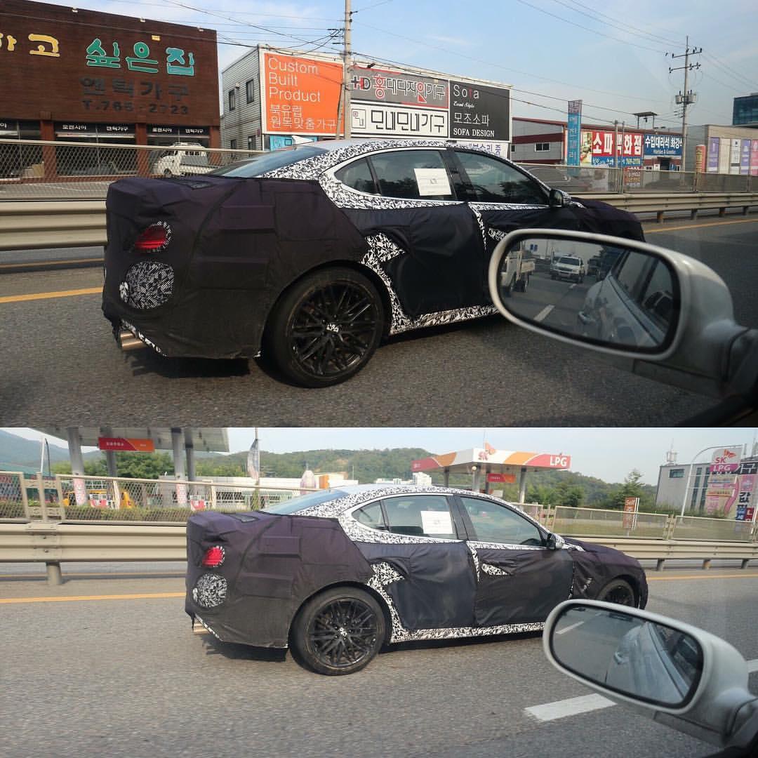 """""""صور تجسسية"""" أثناء اختبار جينيسيس G70 بكوريا الجنوبية"""