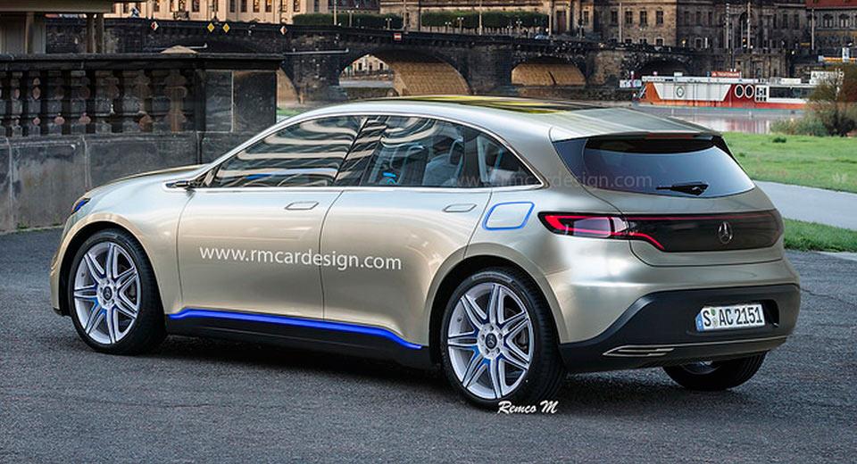 """""""صورة افتراضية"""" لمرسيدس بنز EQ هاتشباك الكهربائية Mercedes-Benz   المربع نت"""